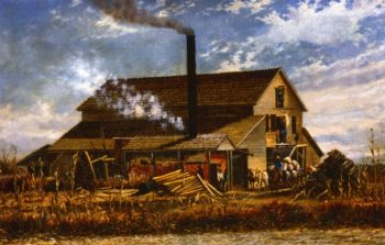Cotton Gin Adams County Mississippi | William Aiken Walker | oil painting