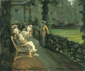 The Verandah | Sir John Lavery | oil painting