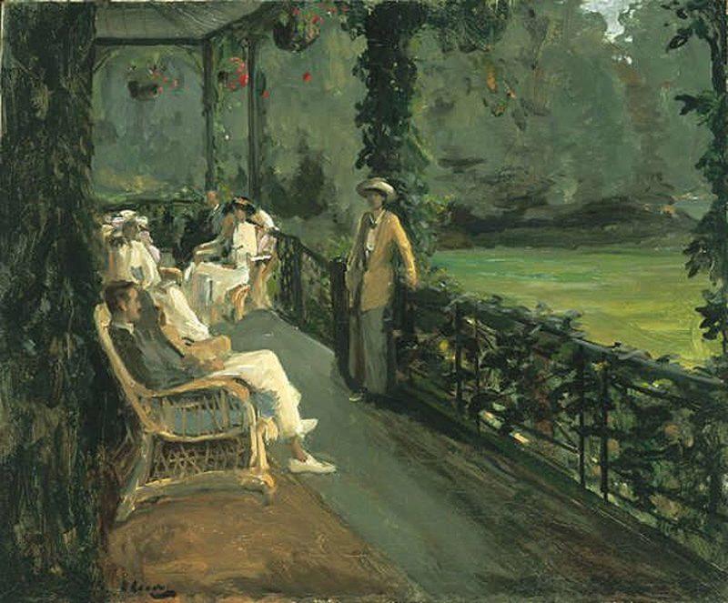 The Verandah | Sir John Lavery | oil painting