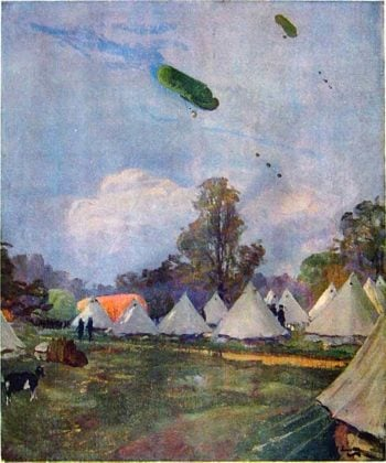 Kite Balloons | Sir John Lavery | oil painting