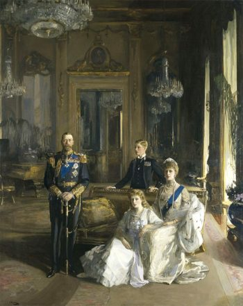 King George and Family | Sir John Lavery | oil painting