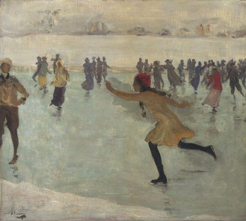 The Skater   Sir John Lavery   oil painting