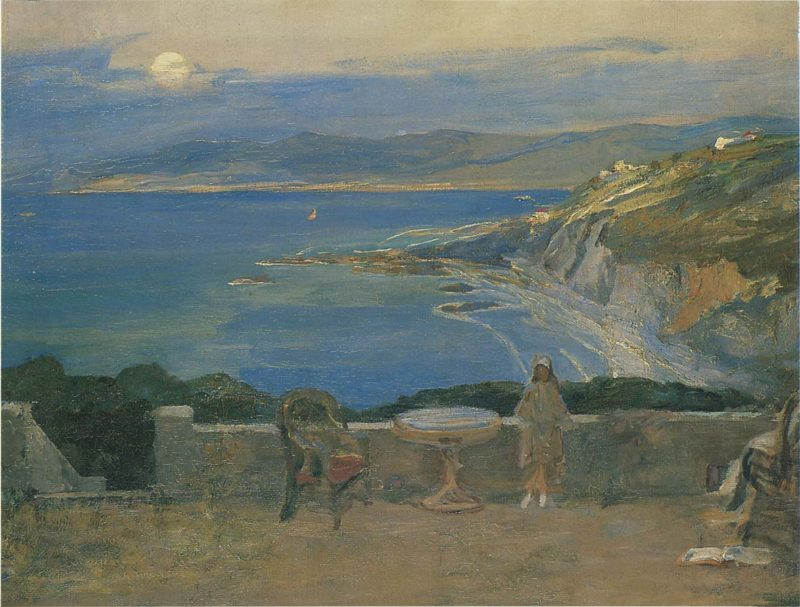 The Rising Moon Tangier Bay | Sir John Lavery | oil painting