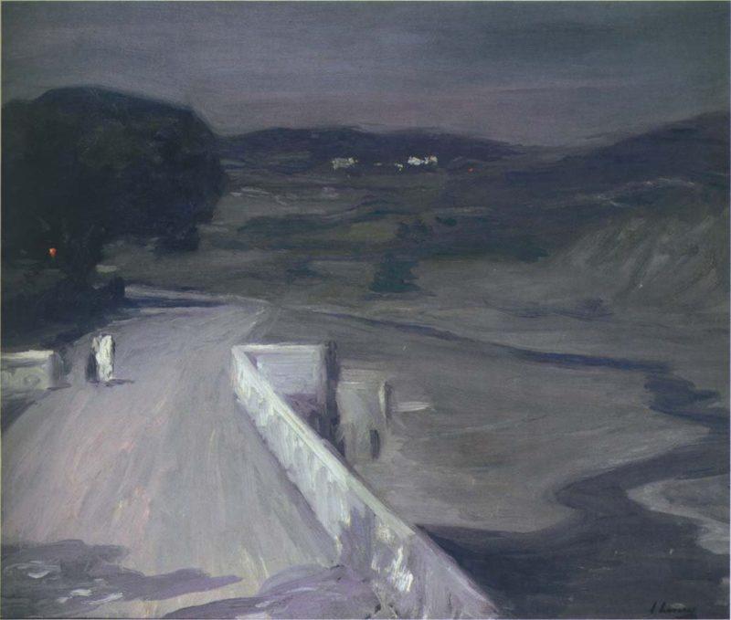 Moonlight on the Bridge | Sir John Lavery | oil painting