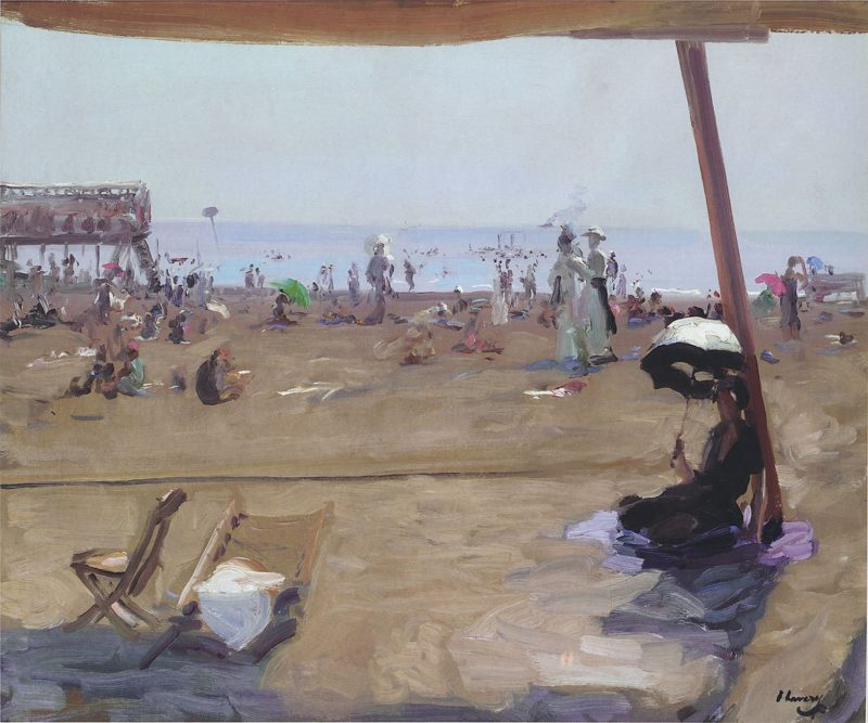 Bathing in Lido Venice | Sir John Lavery | oil painting