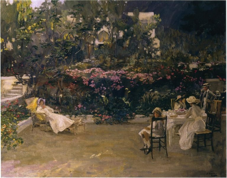 My Garden in Morocco | Sir John Lavery | oil painting