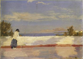 Hazel in Tangier | Sir John Lavery | oil painting