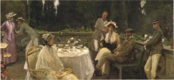 A Family Group | Sir John Lavery | oil painting