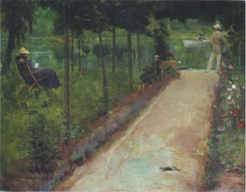 A grey summer s day | Sir John Lavery | oil painting