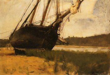 Beached   Dennis Miller Bunker   oil painting