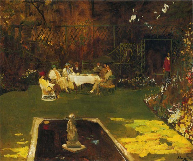 The Garden at Ardilea   Sir John Lavery   oil painting