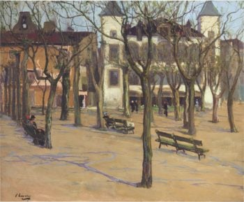 House of Louis XIV St Jean de Luz | Sir John Lavery | oil painting