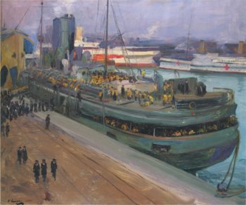 Embarking at Southampton | Sir John Lavery | oil painting