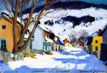 Village Street Bair Saint Paul | Clarence Gagnon | oil painting