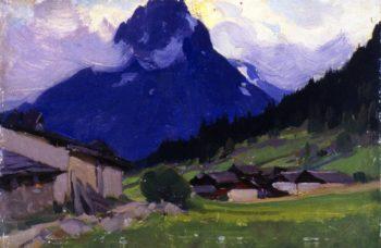 Valloire Haute Savoie France | Clarence Gagnon | oil painting