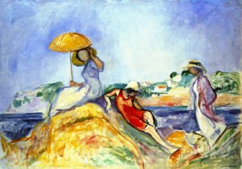 Three Woman by the Sea | Henri Lebasque | oil painting