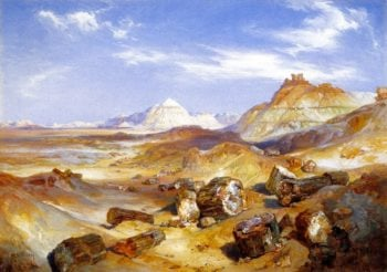 Petrified Forest   Thomas Moran   oil painting