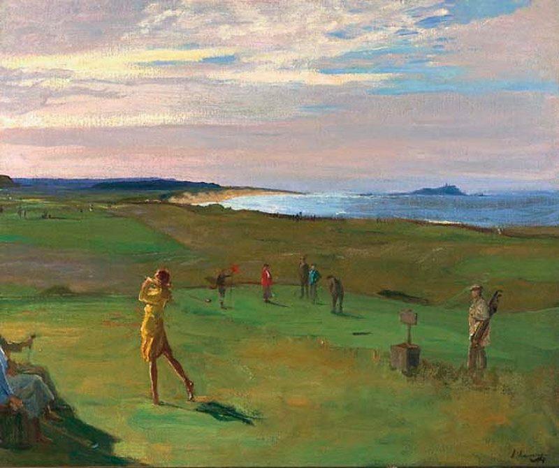Berwick Golf Course | Sir John Lavery | oil painting