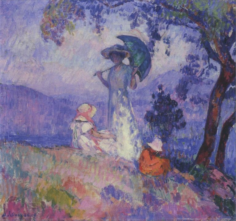 Walk in the Mountains at Saint Tropez | Henri Lebasque | oil painting