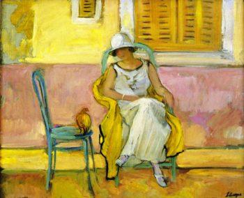 Woman in a White Dress   Henri Lebasque   oil painting