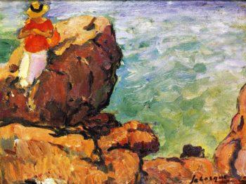 Woman on the Rocks   Henri Lebasque   oil painting