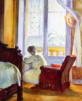 Woman Writing   Henri Lebasque   oil painting