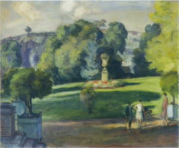 Women in the Gardens at St Cloud   Henri Lebasque   oil painting