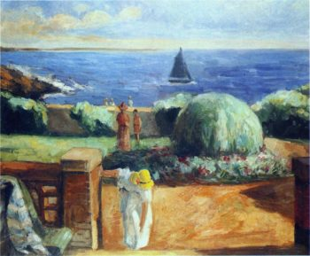 Women on the Terrace at Prefailles   Henri Lebasque   oil painting