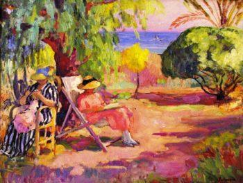 Women Sewing   Henri Lebasque   oil painting