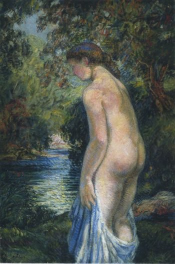 Young bathers by the river   Henri Lebasque   oil painting