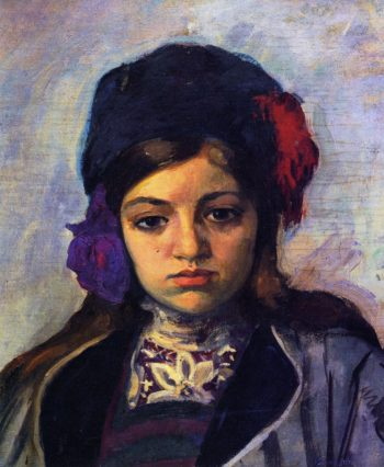Young child in a turban   Henri Lebasque   oil painting