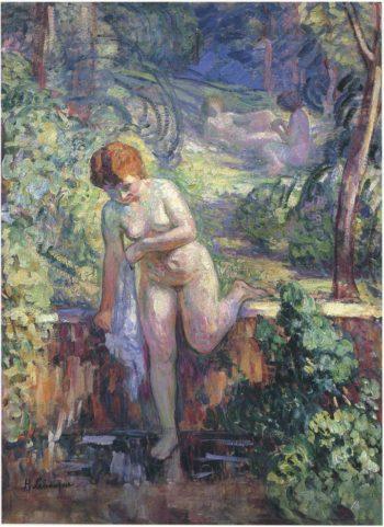 Youn girl in a garden at St Tropez   Henri Lebasque   oil painting
