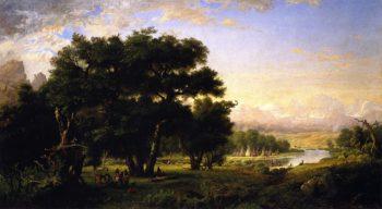 Encampment along the Snake River | Ralph Albert Blakelock | oil painting