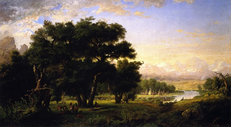 Encampment along the Snake River   Ralph Albert Blakelock   oil painting