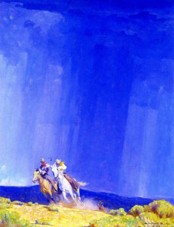 The Shower | W Herbert Dunton | oil painting