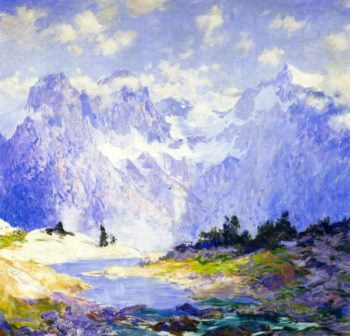 In the High Canadian Rockies | Guy Orlando Rose | oil painting