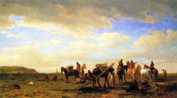 Indians Traveling near Fort Laramie | Albert Bierstadt | oil painting
