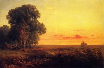 Afterglow on the Prairie | George Inness | oil painting