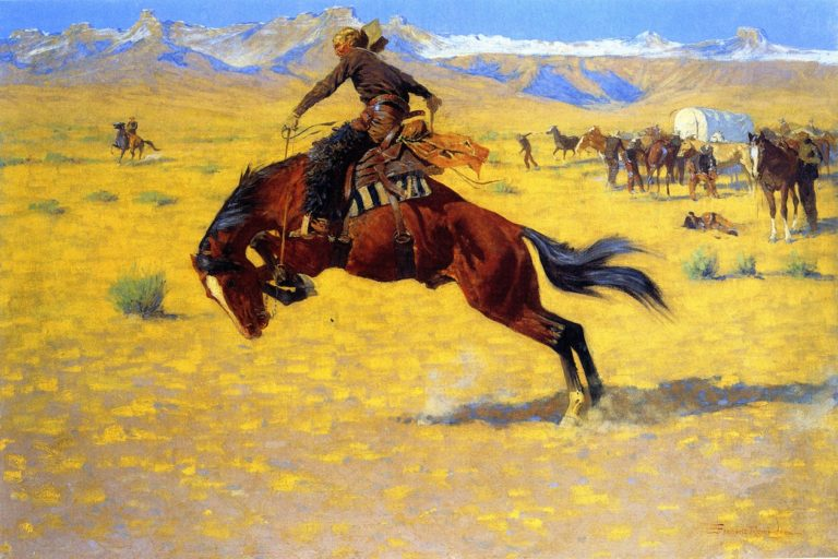 A Cold Morning on the Range | Frederic Remington | oil painting