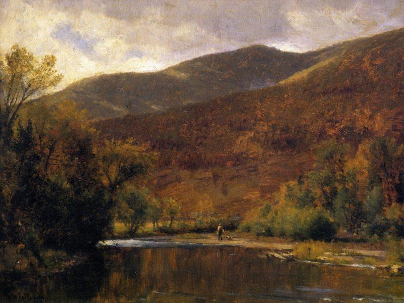 Along the Delaware | Thomas Worthington Whittredge | oil painting