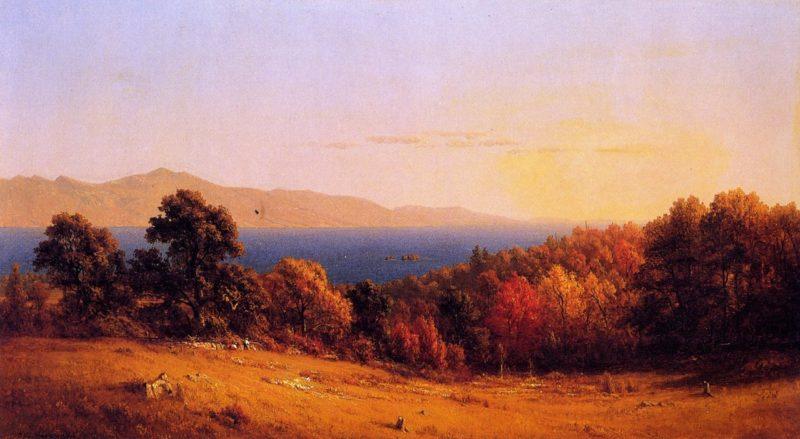 Lake Scene | Sanford Robinson Gifford | oil painting