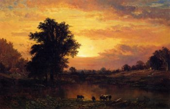Sunset in the Catskills | Alfred Thompson Bricher | oil painting