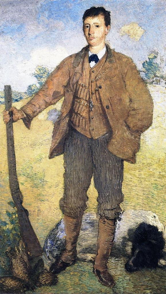 The Hunter | Julian Alden Weir | oil painting