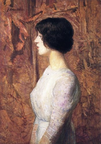 Portrait of a Young Woman | Julian Alden Weir | oil painting