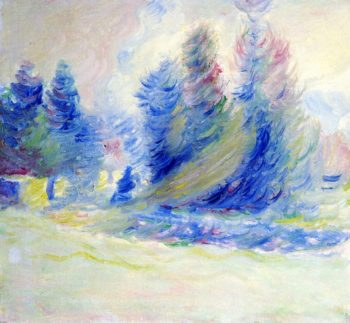 Giverny Trees Wind and Snow | Theodore Earl Butler | oil painting