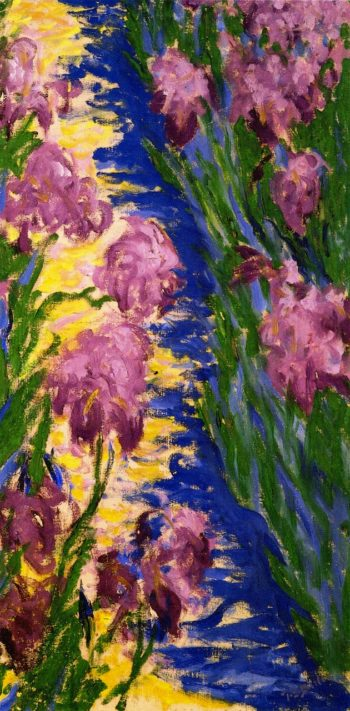 Garden Path with Iris | Theodore Earl Butler | oil painting