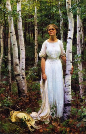 Woodland Solitude | Charles Courtney Curran | oil painting