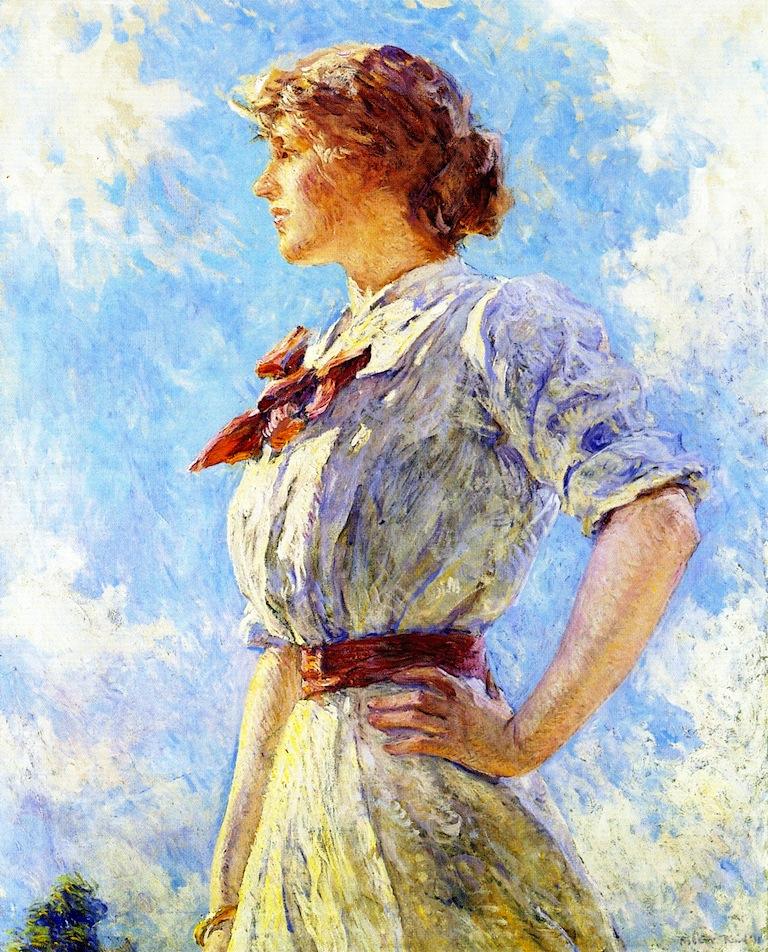 Against the Sky | Robert Lewis Reid | oil painting