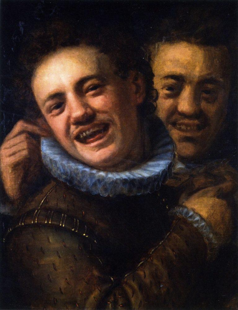 Two Laughing Men | Hans von Aachen | oil painting