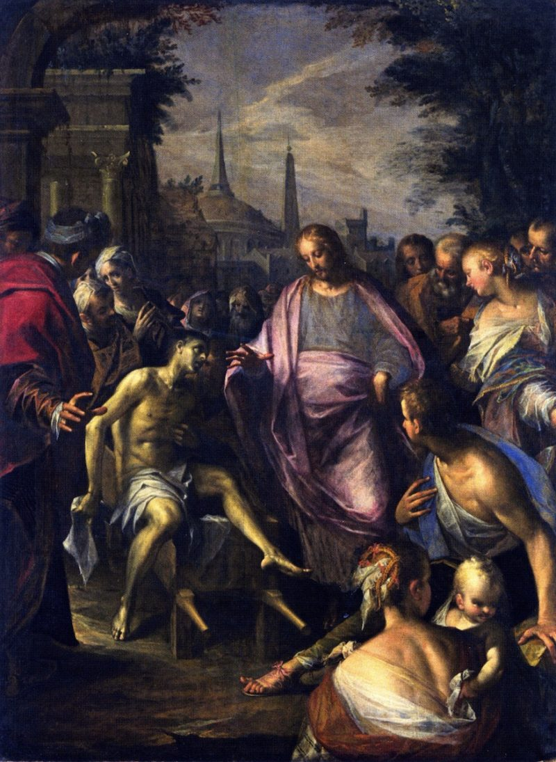 The Raising of the Widows Son of Niam | Hans von Aachen | oil painting
